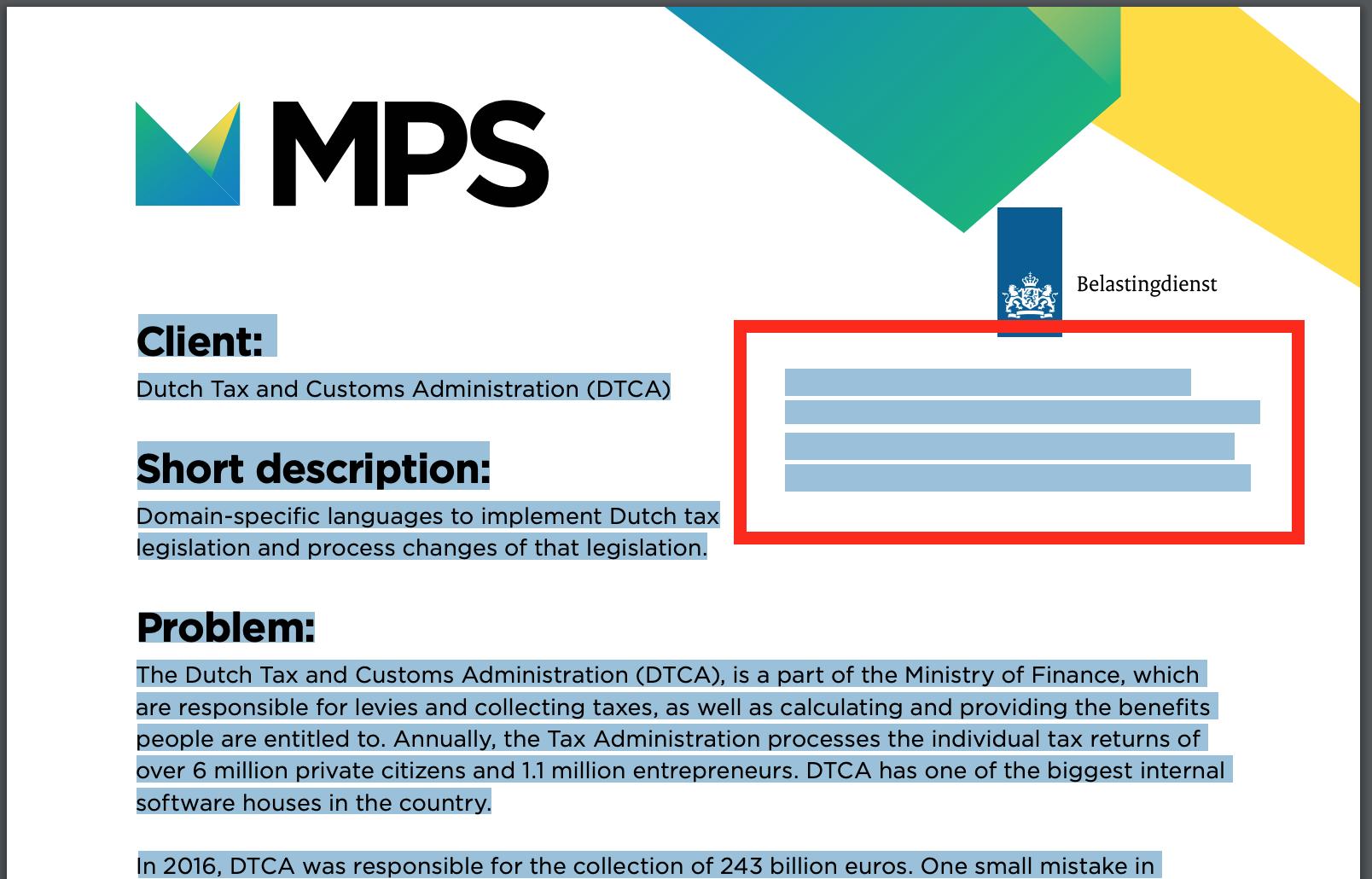 MPS Case Study PDF